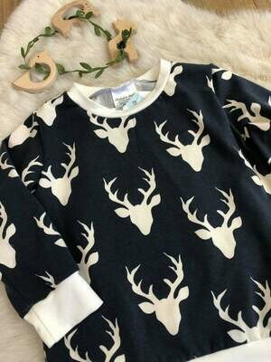 Long Sleeve Shirt- Navy Blue