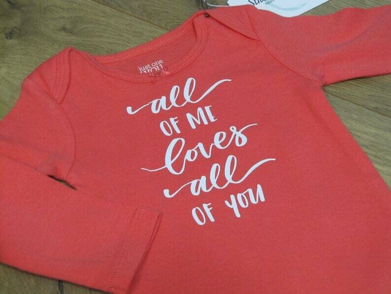 All of Me Baby Onesie- Coral