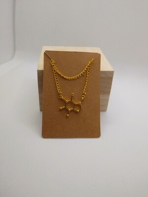 Caffeine Necklace- Gold