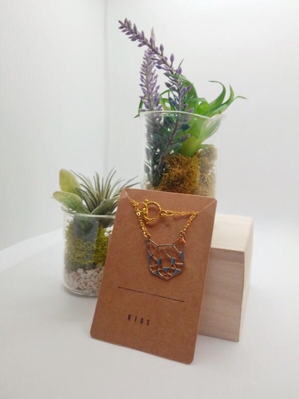 Origami Cat Necklace- Kid