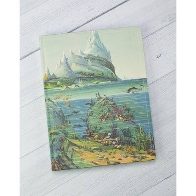 Descending Regions Hardcover Notebook