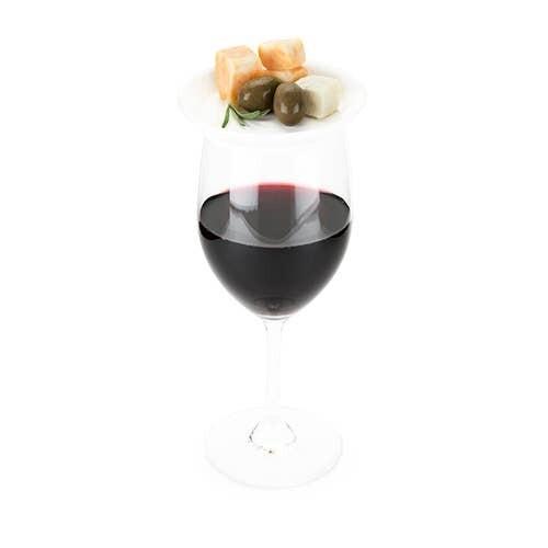 Ceramic Wine Glass Topper Plates