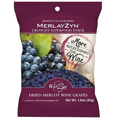 MerlayZyn dried Merlot grapes (1.6 oz)