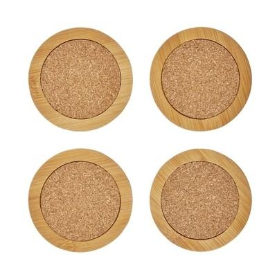 Round Bamboo & Cork Coasters