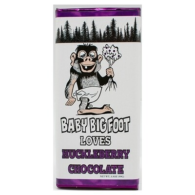 3 oz Solid Milk Huckleberry Chocolate Baby Bigfoot Bar