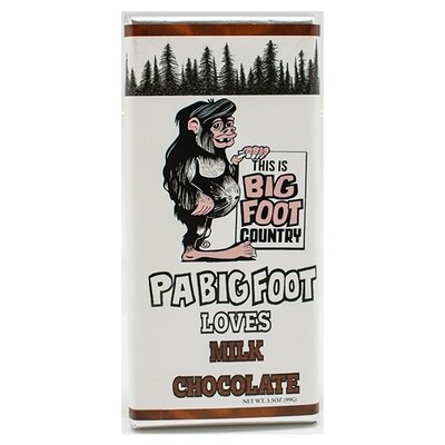 3 oz Solid Milk Chocolate Bigfoot PA Bar