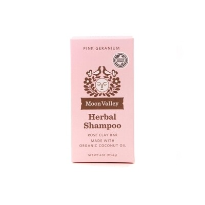 Pink Geranium Shampoo Bar