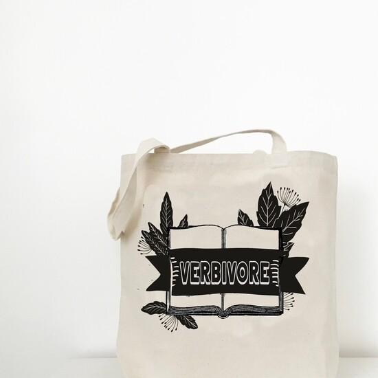 Verbivore Tote Bag