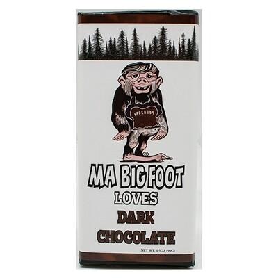 3 oz Solid Dark Chocolate Bigfoot MA Bar