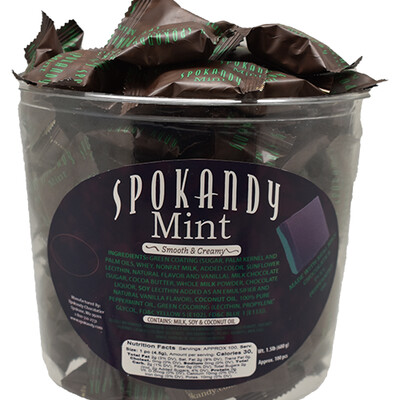 1.5lb Chocolate & Green Mints in Tub