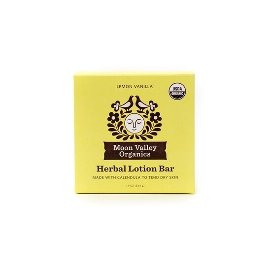 Lemon Vanilla Herbal Lotion Bar