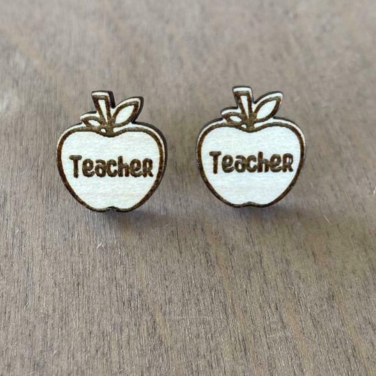 Teacher Apple Studs