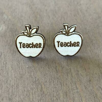Teacher Apple Studs