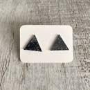 Glitter Acrylic Geo Studs- black