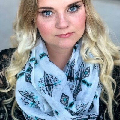 The Tucson Scarf in Turquoise