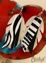 Zebra Leaf Earrings