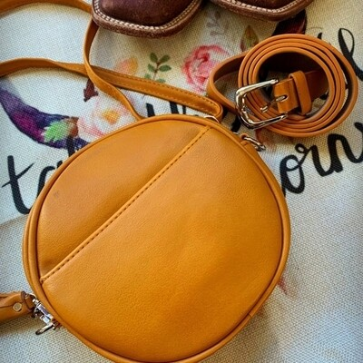 Canteen Purse and Fanny Pack in Mustard