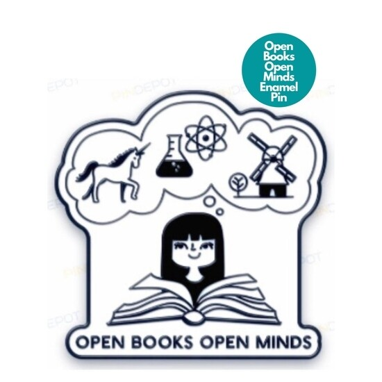 Enamel Pin -- OPEN BOOKS OPEN MINDS