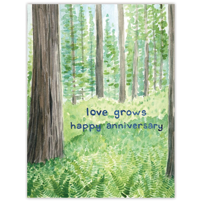 Love Grows Anniversary Card