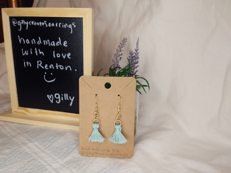 Light Blue small sweeps earrings