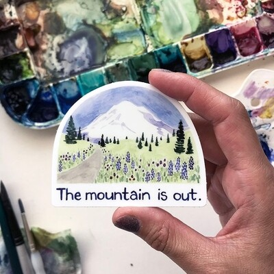 Mountain is out Sticker