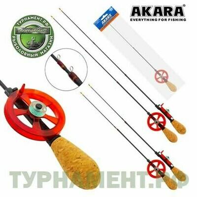 Уд. зим. Akara Leader с катушкой Red (хлыст Hi Carbon teleskop 2 составной)