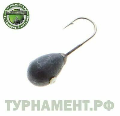 Мормышка вольфрамовая Тульская Капля 3,3К.Чз/0,43гр