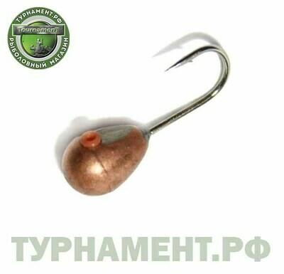 Мормышка вольфрамовая Тульская Капля 4,0Км/0,74гр