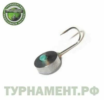 Мормышка вольфрамовая Тульская Шайба 5,0Ш/0,57гр