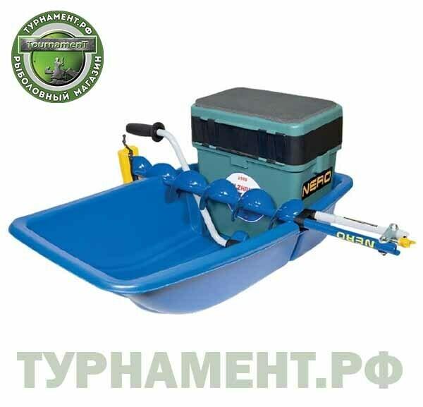 Сани-волокуши Nero COMBO для рыболовов и охотников  (830*450*220 мм) (синий)