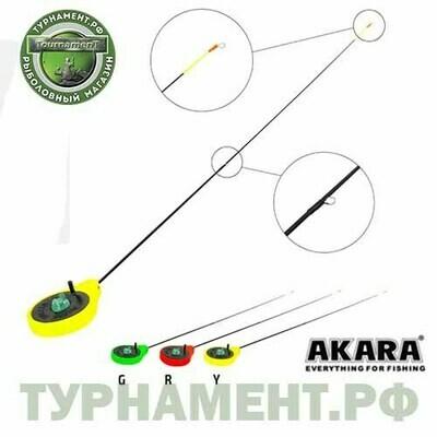 Удочка зимняя Akara SPS Yellow (хлыст стеклопласт с кольцами)