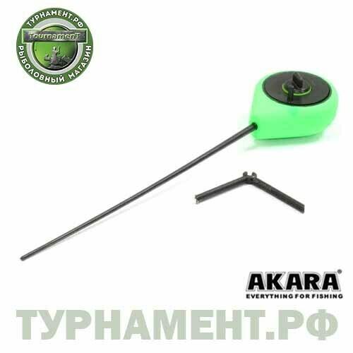 Удочка зимняя Akara STFS с капроновым фиксатором Green