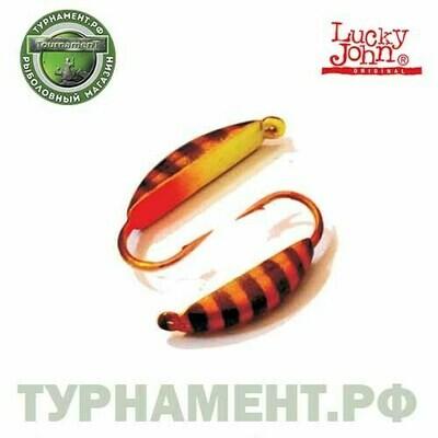 Мормышка вольф. Lucky John БАНАН супер с петел. 035/43