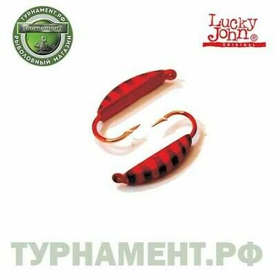 Мормышка вольф. Lucky John БАНАН супер с петел. 025/46