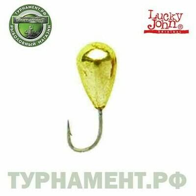 Мормышка вольф. Lucky John КАПЛЯ с лыс..отв.и кембр. 030/G