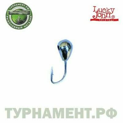 Мормышка вольф. Lucky John КАПЛЯ с лыс..отв.и кембр. 035/S