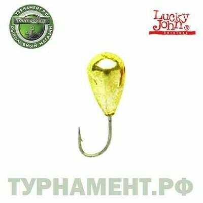 Мормышка вольф. Lucky John КАПЛЯ с отв.и кембр. 025/G