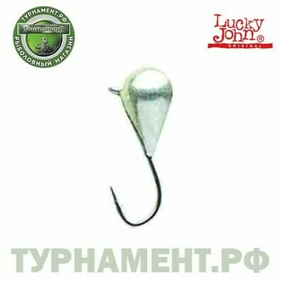 Мормышка вольф. Lucky John КАПЛЯ с петел. 025/S