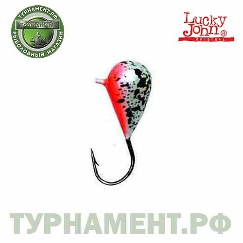Мормышка вольф. Lucky John КАПЛЯ с петел. и п.п.покр. 030/44