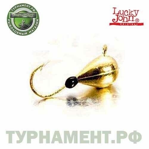 Мормышка вольф. Lucky John КАПЛЯ с петел. и эпоксид. каплей 025/BG