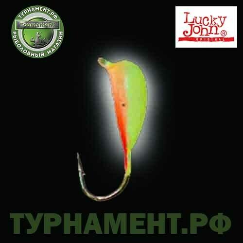 Мормышка вольф. Lucky John НИМФА с петел. и люминофор. 040/Y
