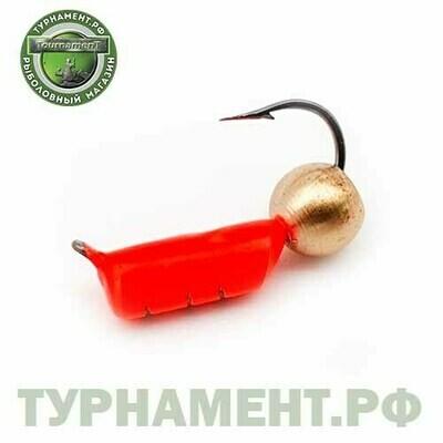 Мормышка EXPERT PRO вольфрам Столбик d2,5мм с лат.шариком красный (464)