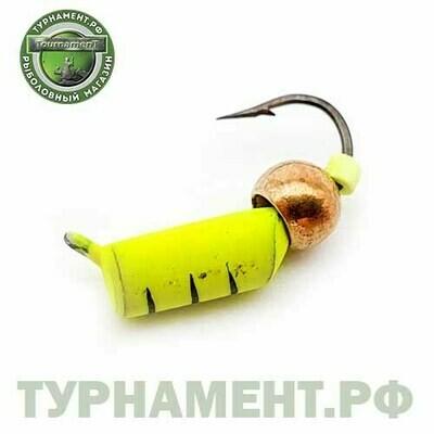 Мормышка EXPERT PRO вольфрам Столбик d3мм с лат.шариком лимонный (461)