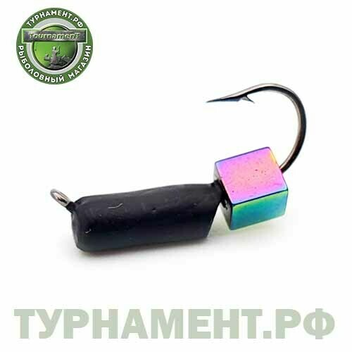 Мормышка EXPERT PRO вольфрам Cтолбик d3мм, с кубиком Хамелеон (432)