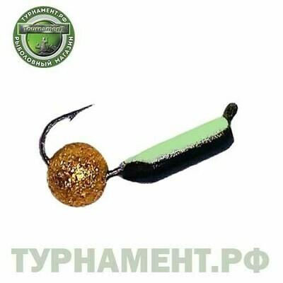 Мормышка EXPERT PRO вольфрам Столбик d3мм с фосф.+звездная пыль (364)