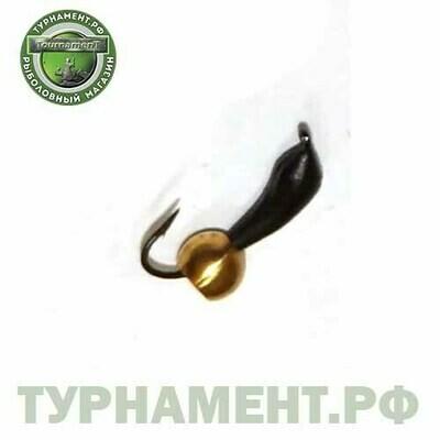 Мормышка EXPERT PRO вольфрам Уралка d3мм черная с латунным шариком (418)
