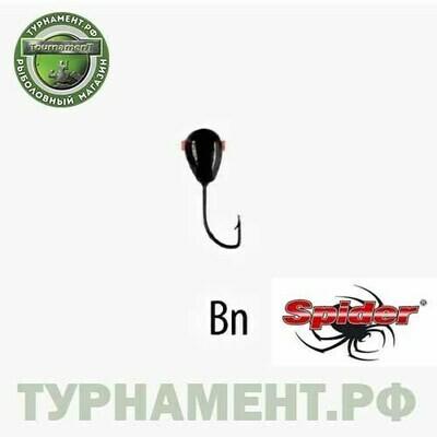Мормышка W Spider Капля с отверст. 2,0 мм 0,17 гр. Bn
