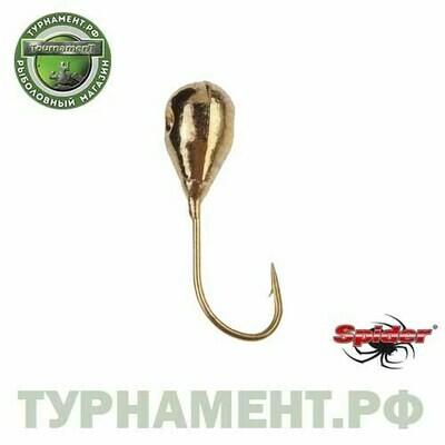 Мормышка W Spider Капля с отверст. 5,5 мм 2,10 гр. Go