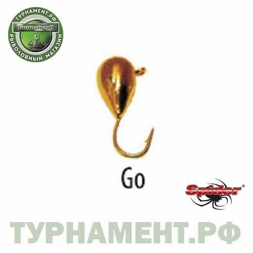 Мормышка W Spider Капля с ушком 3,0 мм 0,42 гр. Go