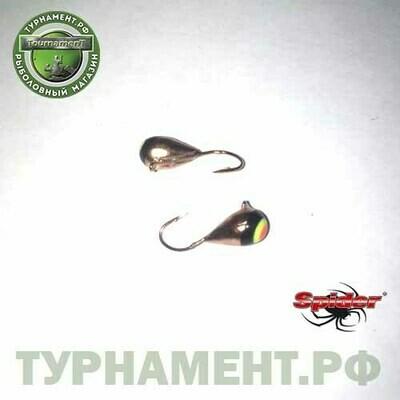 Мормышка W Spider Капля с ушком гальваника с покраской 4,0 мм 0,99 гр. 1-CU